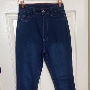 Stretchy Dark Wash Skinny Jeans NWOT